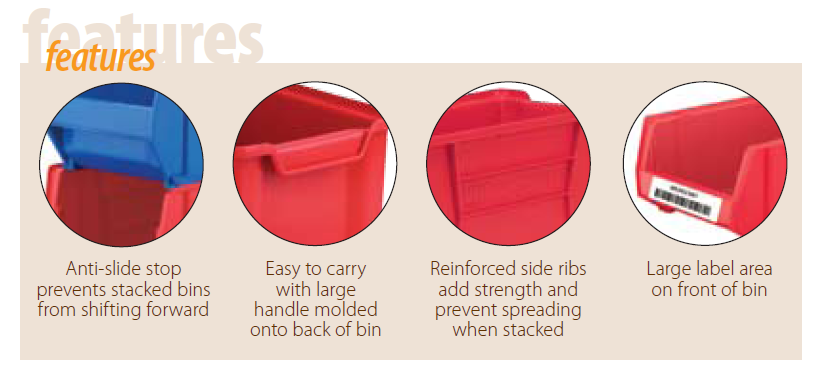 giant stackable bin features